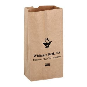 Natural Kraft Paper Popcorn Bag (Size 2 Lb.) - Flexo Ink